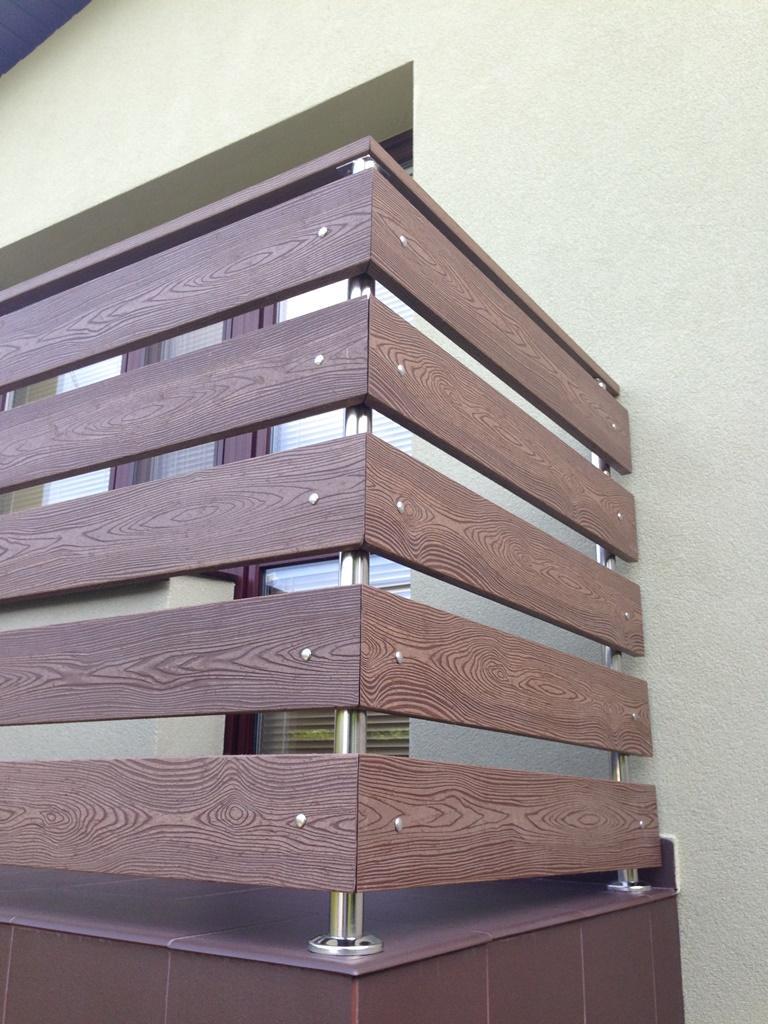 Balustrady Drewniane Drewnopodobne Biotech 2 Panele